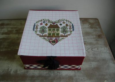 No.39 『sweet home』刺繍箱